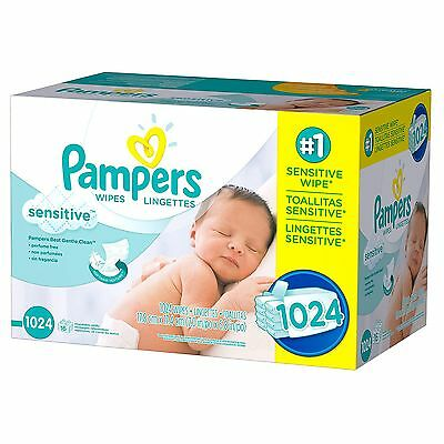 Pampers Sensitive Baby Wipes (1024 ct.)  -NEW