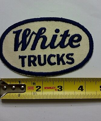 VINTAGE Embroidered Automotive Gasoline Patch (Original-UNUSED) WHITE TRUCKS