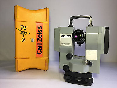 Zeiss Elta 6 Electronic Tacheometer Survey Theodolite w/ Yellow Carrying Case
