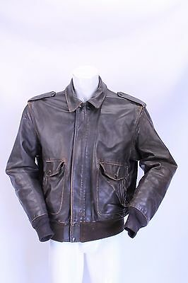 SCHOTT di PELLE LEATHER  Giubbino Jacket Coat Bomber Tg M / L Man Uomo G15