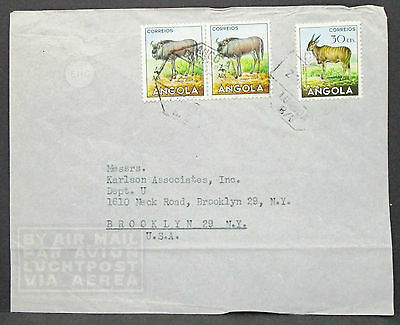 Angola Luftpost Brief in die USA MiF (H-9751