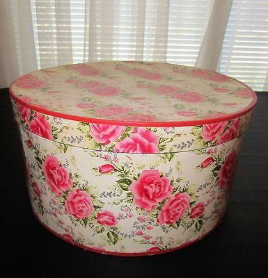 Vintage Pink Rose Hat Box #2