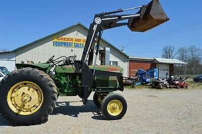 John Deere 4020 diesel tractor - with front end loader - power shift