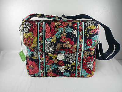 Vera Bradley Attache Briefcase Laptop Messenger Bag Happy Snails New