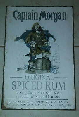 Puerto Rico Captain Morgan Rum Embossed 3D Wooden Sign Bar Display Rare