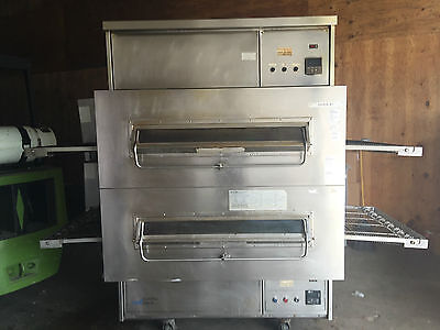 FREE SHIPPING DOMINOS PIZZA Middleby Marshall PS360Q Double-Stacked Pizza Oven