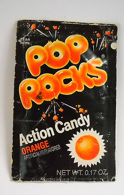 Vintage 1970's Orange POP ROCKS Action Candy SEALED Container pack space pez
