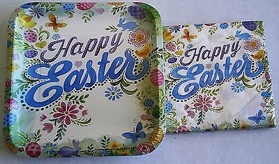 EASTER Paper Plates and Luncheon Napkins  HAPPY EASTER