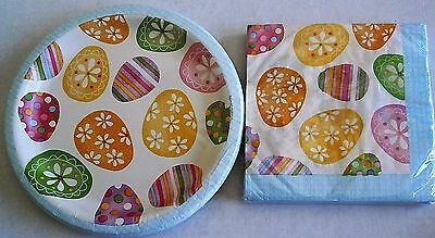 EASTER Paper Plates and Luncheon Napkins  SPRING EGG TOSS