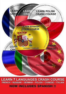 Learn how to speak German Italian French Polish Russian Chinese Spanish CD
