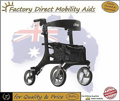 Carbon Fibre Drive Nitro Elite Rollator Extra Light Weight Walker Free Freight