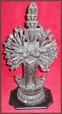 "Antique Bronze Buddha statue China Tibet Avalokitesvara  Chenrezig   15"" Hi"