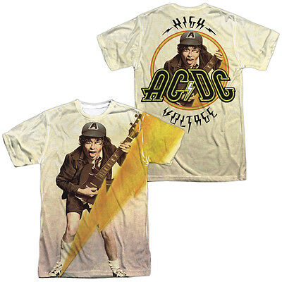 AC-DC ACDC Rock Band HIGHER VOLTAGE 2-Sided All Over Print Poly T-Shirt