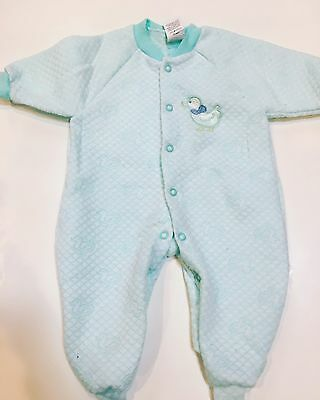 Vintage Health Tex One Piece Sleeper 0-3 Mos Ducks Easter