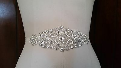 Wedding Bridal Sash Belt, Crystal Pearl Dress Sash Belt