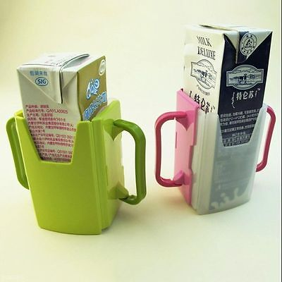 Drink Box Tool Adjustable Toddler Child Juice Pouch Cup Holder Handles Milk