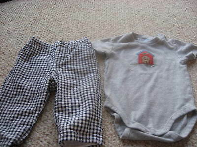 Baby boy Janie and Jack pants and body suit 6-12 mos