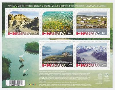 Canada 2015 Souvenir Sheet #2857 UNESCO World Heritage Sites in Canada - MNH