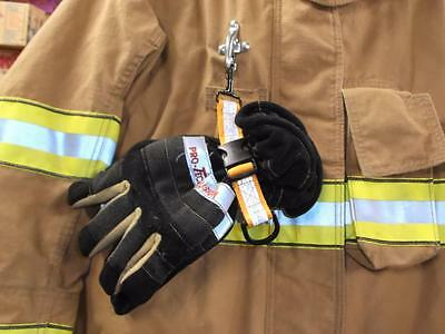 Quick Release Glove Strap with reflective strip orange Firefighter Turnout Gear