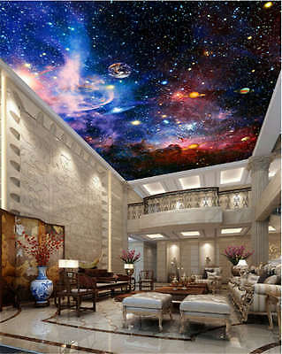 Space Galaxy Nebula Full Wall Ceiling Mural Photo Wallpaper Print Home 3D Decal