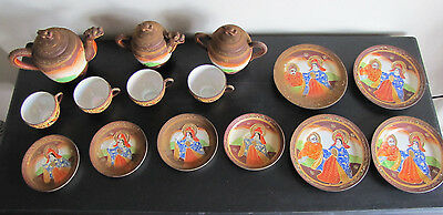 Hand-Painted Japanese Vintage Dragon Tea Set Old Made In Japan