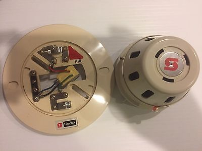 Simplex 2098-9636 Fire Alarm Photoelectric Smoke Detector w/ Base 2098-9637
