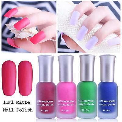 12ML Satin Frosted Long Lasting Fragrance Frosted Matte Bottle Nail Polish Candy