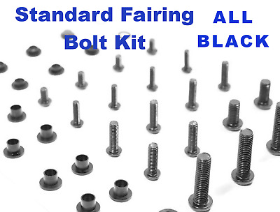 Black Fairing Bolt Kit body screws fasteners for Honda CBR 600 F4i 2006