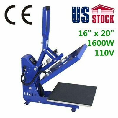 "US Stock 16"" x 20"" Manual T-shirt Sublimation Heat Press Machine New Swing Away"