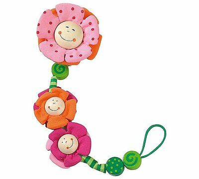 HABA Blossoms Pacifier Chain Holder Clip - NEW Free Shipping 1047