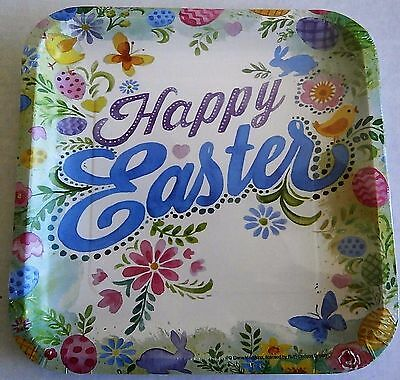 """EASTER Paper Plates  8 ct   9 1/8"""" Plates  HAPPY EASTER"""