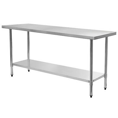 """24"""" x 72"""" Stainless Steel Work Prep Table Commercial Kitchen Restaurant New"""