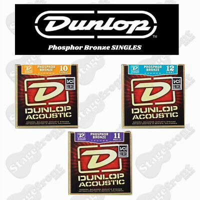 Single Dunlop Acoustic Phosphor Bronze Guitar Strings Various Sizes