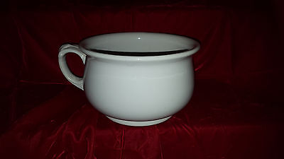 1800s Royal Ironstone China/ Alfred Meakin England chamber pot  #  3028