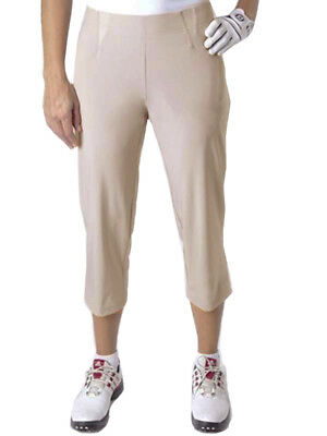 Birdee Golf Ladies Slide On Capri - Taupe