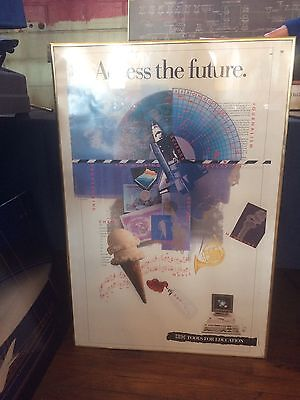 Vintage IBM computer poster: Access the Future. Poster only, unframed.