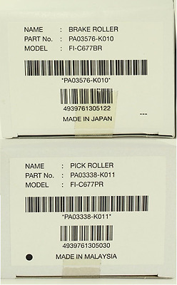 One Genuine OEM Fujitsu PA03338-K011 PA03576-K010 Pick/Brake Roller kit fi-6670