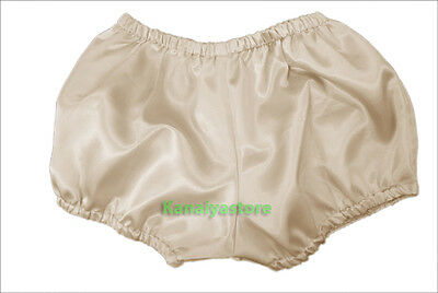 Cream Satin Women Pants Pantaloons Sissy Maid Adult Baby Fits With Underwear