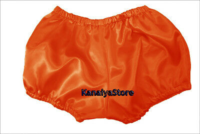 Orange Women Satin Pants Pantaloons Sissy Maid Adult Baby Fits With Underwear