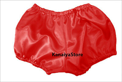 Red Women Satin Pants Pantaloons Sissy Maid Adult Baby Fits With Underwear