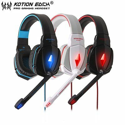 EACH G4000 Stereo gaming Headphone Headset Mic Volume Control  Headset lot GL