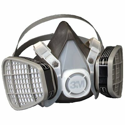 3M Dust Paint Mask Protect Smoke Gas Respirator Filter Spray Half Face Large