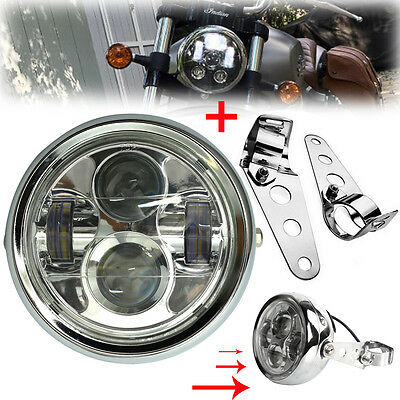 6.5'' 45W Moto LED Phare Projecteur Headlight Lamp & Supports Pour Harley Jeep
