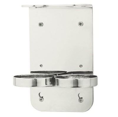 Chrome Double Soap & Lotion Wall Mounted Bottle Holder