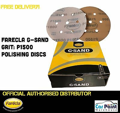 "Farecla P1500 G Sand 6"" 150mm Finishing Film Polishing Sanding Discs 50pk P1500"