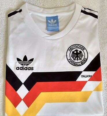 Embroidered 1990 West Germany home retro football shirt - S