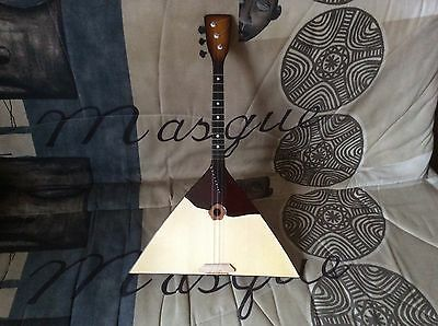 Balalaika New Original Russian 3 three String Prima. Folk instrument, wood
