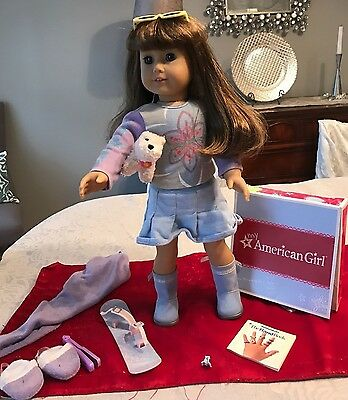 American Girl Doll Lot Just Like Me Dark Brown Hair & Eyes Clothes & Accessories