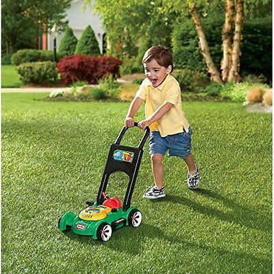 Toy Lawn Mower Little Tikes Kids Toddler Fun Play Pretend Sounds Lawnmower NEW