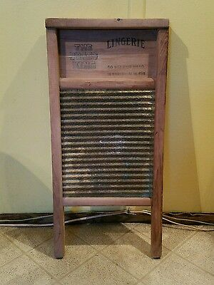 Antique National Washboard Co. #803 Lingerie The Brass King Washboard Chicago